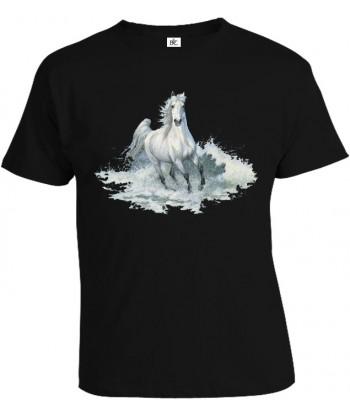Tričko pánske - Biely kôň