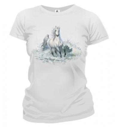 Tričko dámske - Biely Kôň