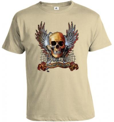 Tričko pánske - Winged Skull