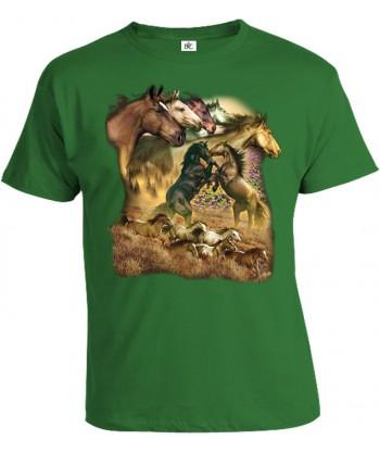 Tričko pánske - Divoké kone