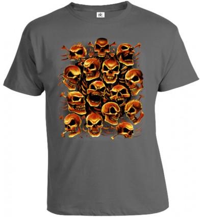Tričko pánske - Ohnivé Lebky