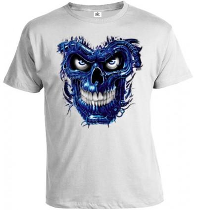 Tričko pánske - Terminator Skull Blue