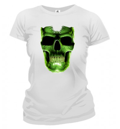 Tričko dámske - Svietiaca Lebka
