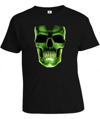 Tričko pánske - Svietiaca Lebka