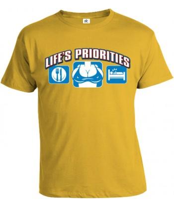 Tričko pánske - Životné priority - Prsia