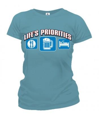 Tričko dámske - Životné priority - Pivo