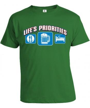 Tričko pánske - Životné priority - Pivo