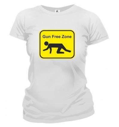 Tričko dámske - Gun Free Zone