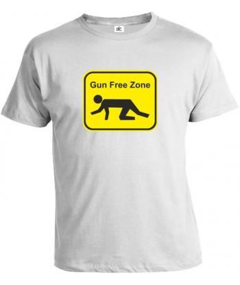 Tričko pánske - Gun Free Zone