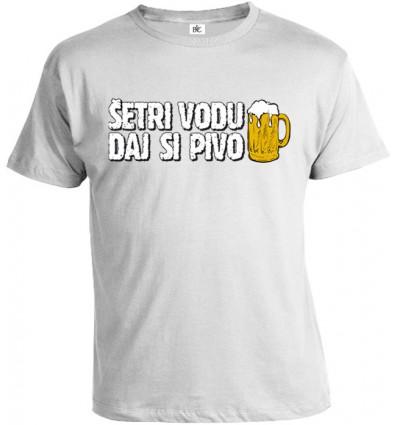 Tričko pánske - Šetri vodu daj si Pivo