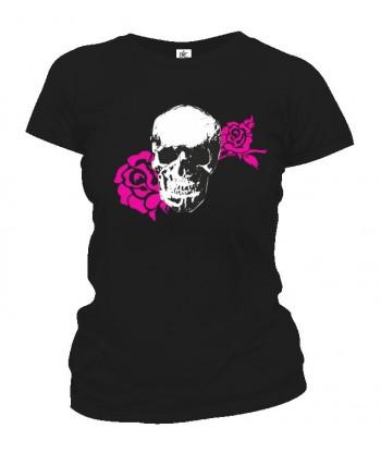 Tričko dámske - Skull Rose