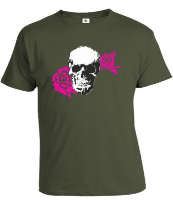 Tričko pánske - Skull Rose