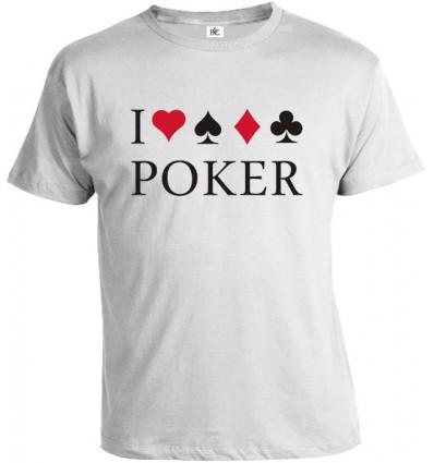 Tričko pánske - I Love Poker