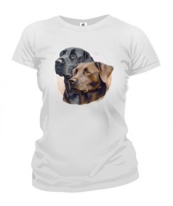Tričko dámske - Čierny labrador