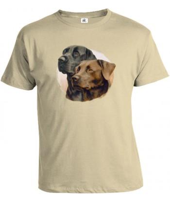 Tričko pánske - Čierny labrador