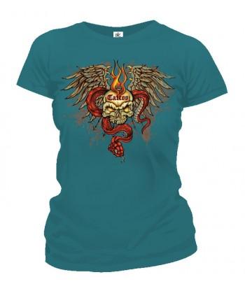 Tričko dámske - Tattoo Lebka