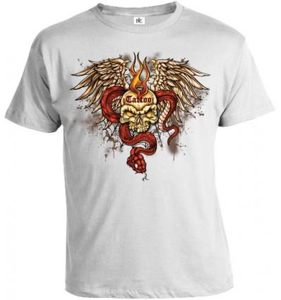 Tričko pánske - Tattoo Lebka