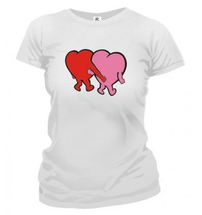 Tričko dámske - Zaľúbené srdcia