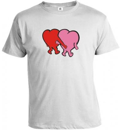 Tričko pánske - Zaľúbené srdcia