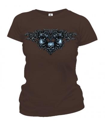 Tričko dámske - Gotické Lebky