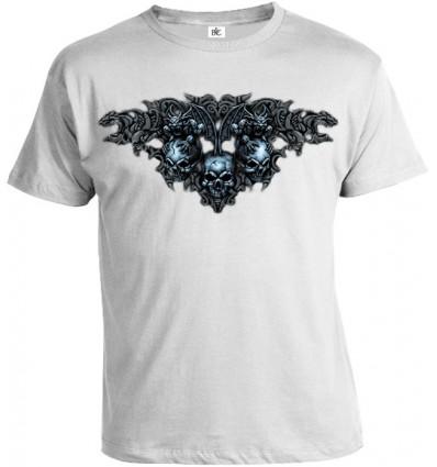 Tričko pánske - Gotické Lebky