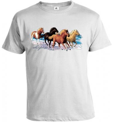 Tričko pánske - Cválajúce kone