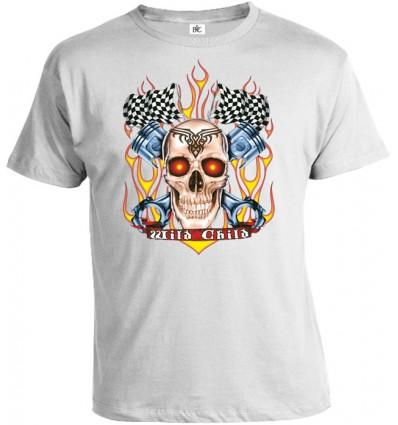 Tričko pánske - Racing Skull