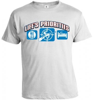Tričko pánske - Životné priority - Poľovníctvo