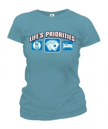 Tričko dámske - Životné priority - Poker