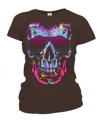 Tričko dámske - Retro Skull