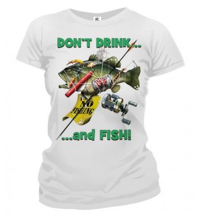 Tričko dámske - Nepi keď si na rybách