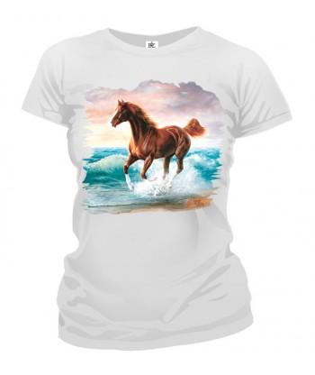 Tričko dámske - Cválajúci kôň