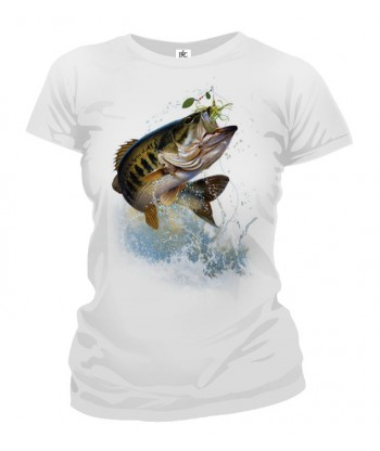 Tričko dámske - Ryba na háčiku