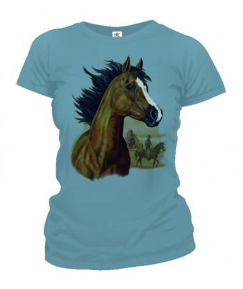 Tričko dámske - Hnedý Kôň