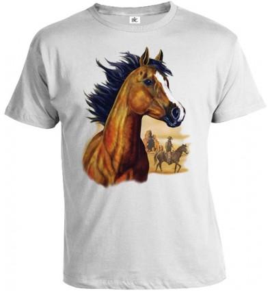 Tričko pánske - Hnedý Kôň