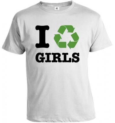 Tričko pánske - I Recycle Girls