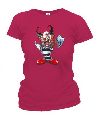 Tričko dámske - Klaun so sekerou