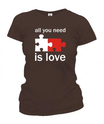Tričko dámske - All You Need Is Love