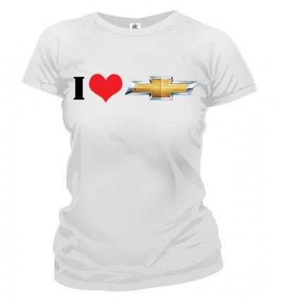 Tričko dámske - I Love Chevrolet