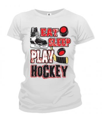 Tričko dámske - Eat Sleep Hockey