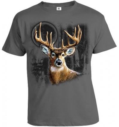 Tričko pánske - Jeleň v mesačnom svite