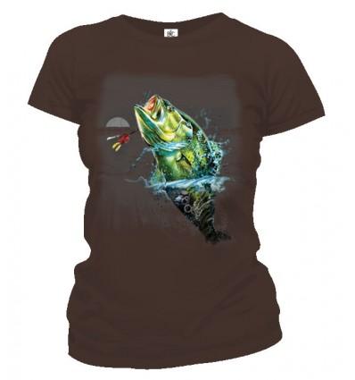 Tričko dámske - Ryba v mesačnom svite
