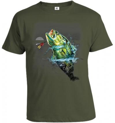 Tričko pánske - Ryba v mesačnom svite