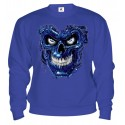 Mikina - Terminator Skull Blue