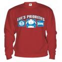 Mikina - Životné priority - Prsia