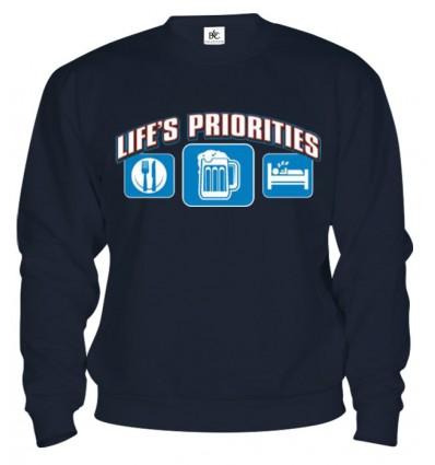 Mikina - Životné priority - Pivo
