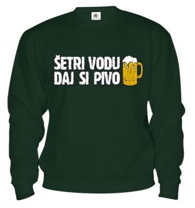 Mikina - Šetri vodu daj si Pivo