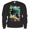 Mikina - Čierny leopard