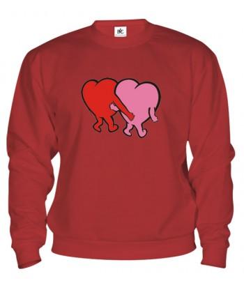 Mikina - Zaľúbené srdcia
