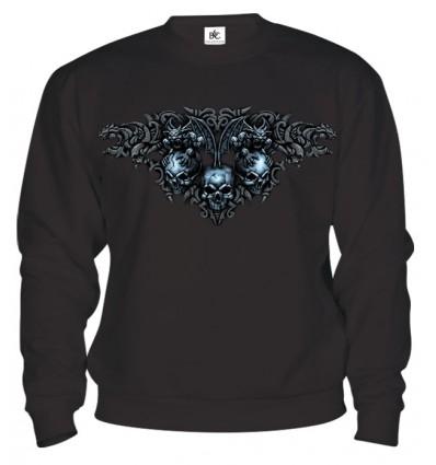 Mikina - Gotické Lebky